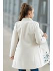 8918-12 Пальто АГАТА демисезонное(белый)