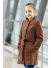 8918-15 Пальто АГАТА демисезонное(коричневый)