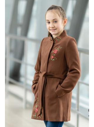 Пальто АГАТА демисезонное (коричневый)