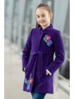 8918-7 Пальто АГАТА демисезонное(фиолетовый)