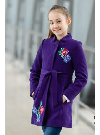 Пальто АГАТА демисезонное(фиолетовый)