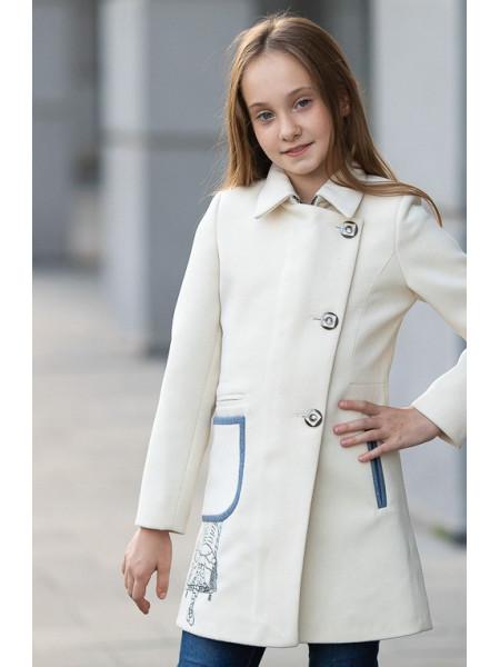 Пальто ЛЕДА демисезонное(белый)