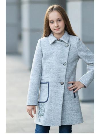 8920 Пальто ЛЕДА демисезонное(серый)