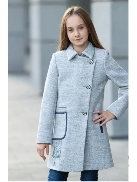 Пальто ЛЕДА демисезонное(серый)
