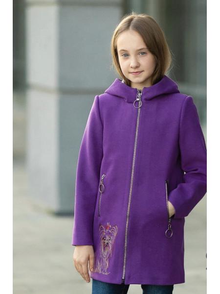 Пальто ДИЛАЙЛА демисезонное(фиолетовый)
