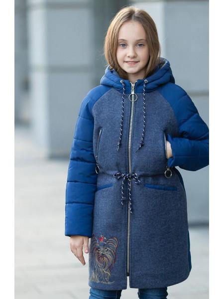 Пальто ЛАНИ демисезонное(синий)