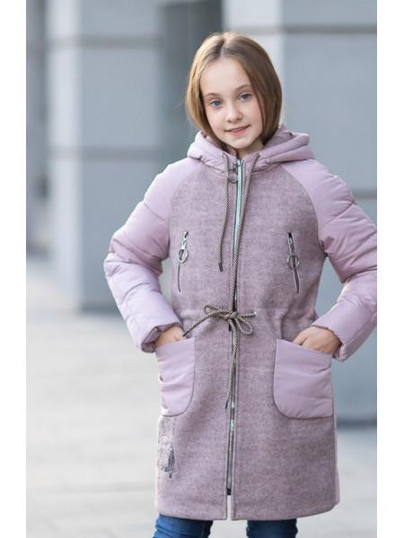Пальто ЛАНИ демисезонное(пудра)