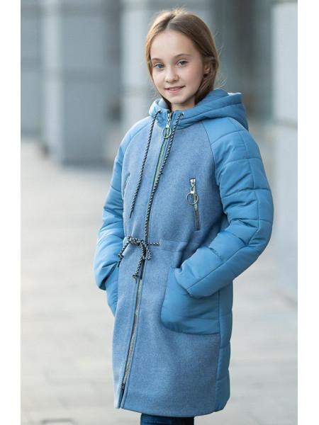Пальто ЛАНИ демисезонное(голубой)