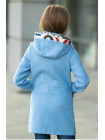 8923-2 Пальто МОЛЛИ демисезонное(голубой/узор)