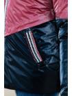 8924-1 Куртка БЛЭР демисезонная(марсала/синий)