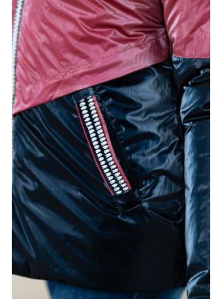 Куртка БЛЭР демисезонная (марсала/синий)