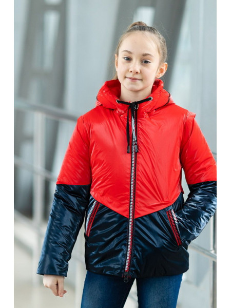 Куртка БЛЭР демисезонная (красный/синий)
