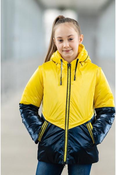 Куртка БЛЭР демисезонная (желтый/синий)