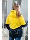 8924-3 Куртка БЛЭР демисезонная(желтый/синий)