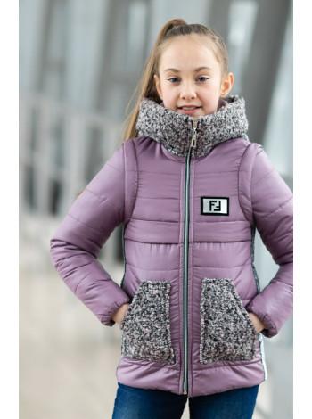Купить оптом Куртка-жилет РОКСАНА демисезонная д/дев. (сиреневый)