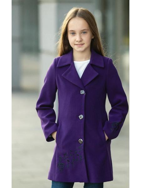 Пальто НОТТА демисезонное (фиолетовый)
