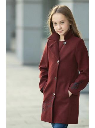 Пальто НОТТА демисезонное (бордо)