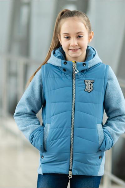 Куртка РОЗАЛИ демисезонная (голубой)