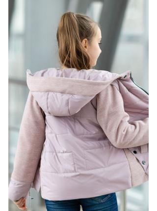 Куртка РОЗАЛИ демисезонная (пудра)