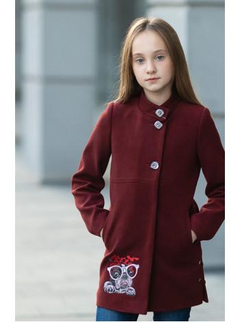8932-2 Пальто СИВИЛЛА демисезонное(бордо)