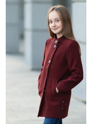 Пальто СИВИЛЛА демисезонное (бордо)