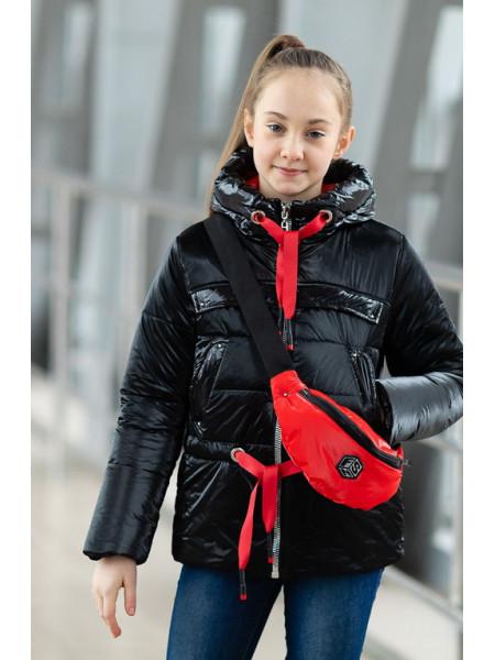 Куртка БЕРРИ демисезонная (черный/красный)