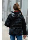 8933-1 Куртка БЕРРИ демисезонная(черный/красный)