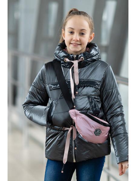 Куртка БЕРРИ демисезонная (т.серый)