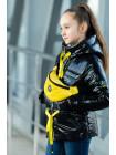 8933-4 Куртка БЕРРИ демисезонная(черный лак/желтый)