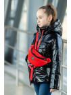 8933-5 Куртка БЕРРИ демисезонная(черный лак/красный)