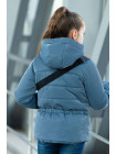 8933-6 Куртка БЕРРИ демисезонная(джинс/красный)