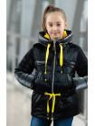 8933 Куртка БЕРРИ демисезонная(черный/желтый)