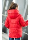 8934-1 Куртка ЭВА демисезонная(красный)