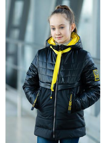 8936-4 Куртка РЭЙЧЕЛ демисезонная (черный)