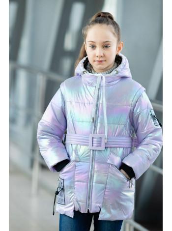 8939-2 Куртка РАДУГА демисезонная(св.сиреневый)