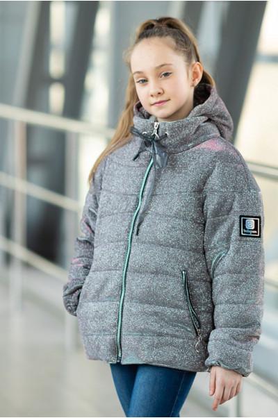 Куртка ЛЮРЕКС демисезонная (серебро)