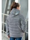 8940 Куртка ЛЮРЕКС демисезонная(серебро)