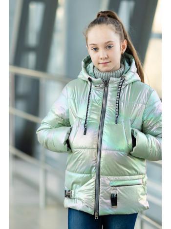 8941-1 Куртка ДЖЕЛИ демисезонная(салатный)