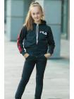 Детский спортивный костюм УМА д/дев. (т.серый+красный)