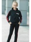 Детский спортивный костюм УМА д/дев. (черный+красный)