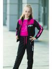 3122-15 Костюм спортивный для девочки Ума, подростковая ростовка (т.серый+малиновый)