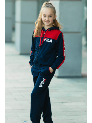 Детский спортивный костюм УМА д/дев. (т.синий+красный)
