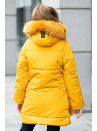 Зимняя куртка РОНДА д/дев.(горчица)
