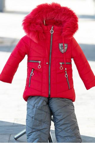 Зимний комплект РИТА д/дев (красный)