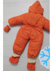 Комбинезон-конверт УШКИ от 0 до 12 мес (оранжевый)