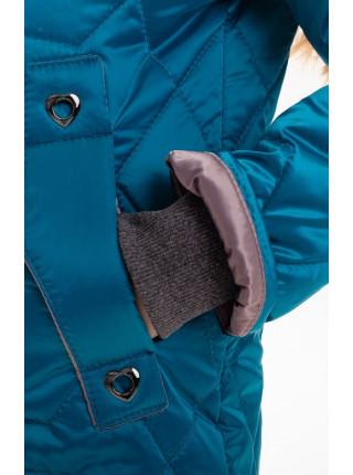 Куртка-жилет Фара демисезонная д/дев. (бирюза)