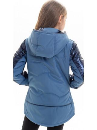Куртка Анфиса демисезонная д/дев (синий)