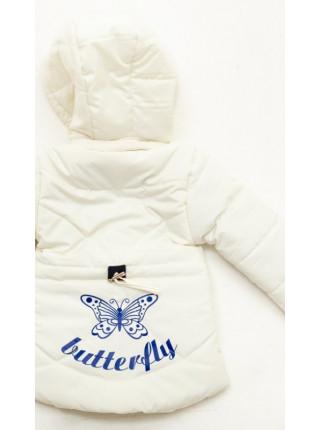 Куртка Бабетта демисезонная д/дев (молочный)
