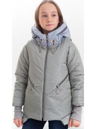 Куртка Бланш демисезонная д/дев (серый)