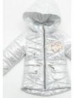 Куртка Блеск демисезонная д/дев (серебро)